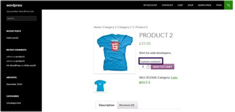 Change Template Page Simple Product Woocommerce by How To Add Content Before Add To Cart Button On Single