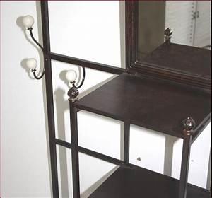 Meuble En Fer : meuble d entree meuble de rangement vestiaire fer forge ebay ~ Teatrodelosmanantiales.com Idées de Décoration