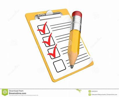 Checklist Clipart Clipboard Background Check Writing Royalty