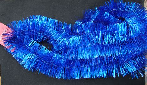 blue christmas tinsel garland bright royal blue laser