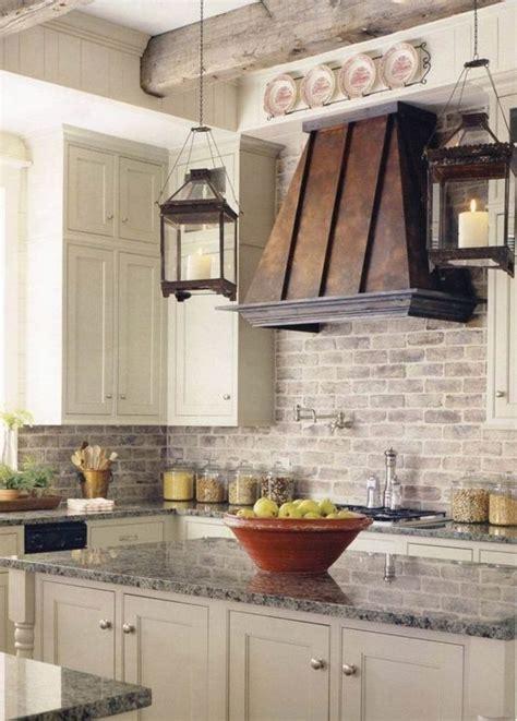 brick backsplash  kitchen real whitewashed wh white