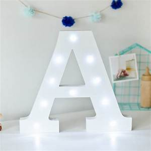 white light up letters by letteroom notonthehighstreetcom With lighted letter a