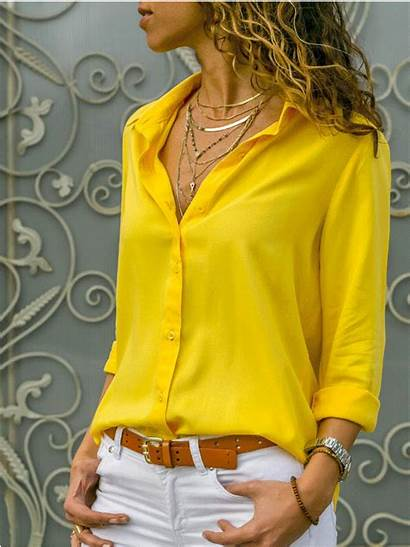 Plus Blouse Casual Collar Sleeve Stand Chiffon