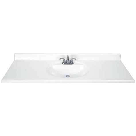 Single Sink Bathroom Vanity Top by Shop White Cultured Marble Integral Single Sink Bathroom