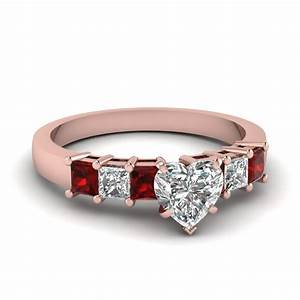 Vintage Channel Heart Diamond Engagement Ring In 14K White ...