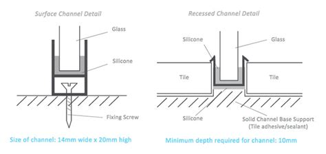 glass wall tile how to install a room shower screen orbry