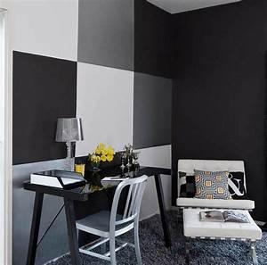 Farben Für Wände Ideen : schwarze w nde f r moderne raum und farbgestaltung im wohnzimmer kreative wand streichen ideen ~ Markanthonyermac.com Haus und Dekorationen