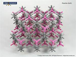 Fluorite Crystal Structure Model  154 Atoms  Orbit Style