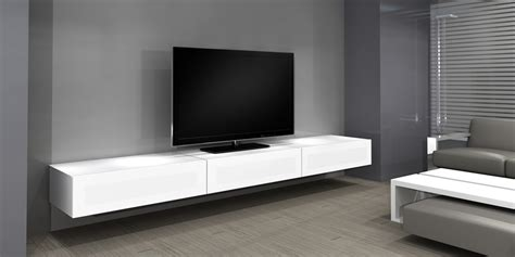 meuble tv accroche au mur meuble suspendu blanc laque ikea