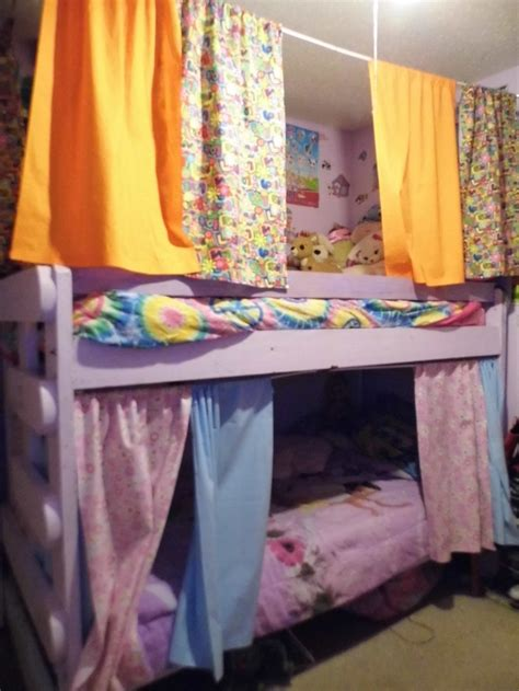curtains made for the bunk beds g i r l s room