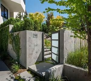 Gartenmauern Aus Beton : beton gartenmauer und gartent r mit glasf llung ~ Michelbontemps.com Haus und Dekorationen