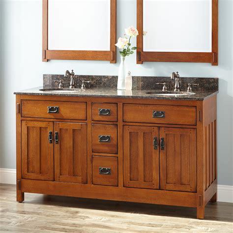 rustic double sink vanity 60 quot american craftsman double vanity for undermount sinks