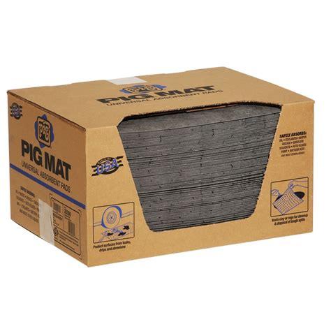 Pig Doormat by Pig Universal Med Wt Ab Mat Pad 15 X 20 100 B New Pig