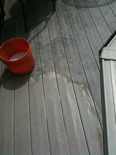 cleaning trex decking with trex deck cleaning