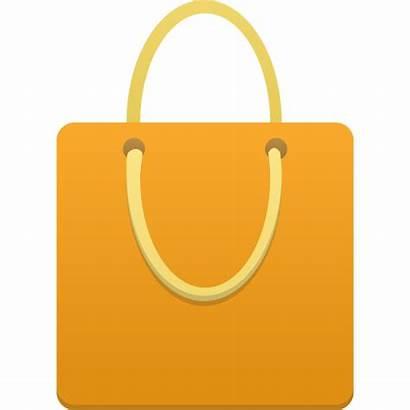 Shopping Bag Icon Orange Icons Clipart Surat