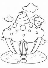 Cupcake Coloring Muffin Torte Kuchen Ausmalbilder Forkids Cake Kostenlos Q2 Ausmalbild sketch template