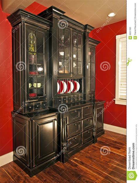 dining room hutch buffet stock  image