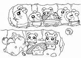 Coloring Hamtaro Tunnel Pages Coloringpages101 57kb 464px sketch template