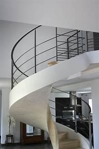 Garde Corp Escalier : garde corps d 39 un escalier circulaire en b ton ehi ~ Dallasstarsshop.com Idées de Décoration