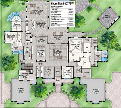 luxurious  story house plan  expansive outdoor living space bw architectural