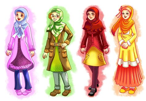 anime tentang cantik gambar kartun muslimah yang keren dan cantik animasi