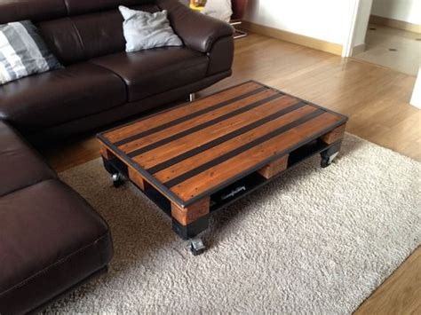 table basse palette industrielle table basse industrielle palette bois et m 233 tal palette