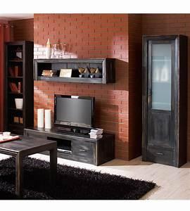 Tv Hifi Möbel : tv lowboard mit 2 schubladen modern massiv aus holz ~ Bigdaddyawards.com Haus und Dekorationen