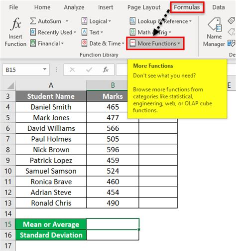 score excel calculate average example function down functions below open statistical drop step category educba