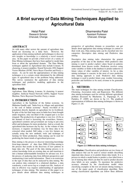 (PDF) A Brief survey of Data Mining Techniques Applied to