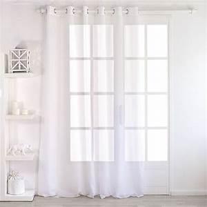 Teppich 240 X 240 : voilage 240 x 240 cm dolly blanc voilage eminza ~ Bigdaddyawards.com Haus und Dekorationen