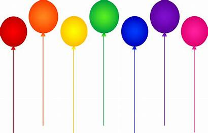 Balloons Birthday Rainbow Seven Party Colors Colorful
