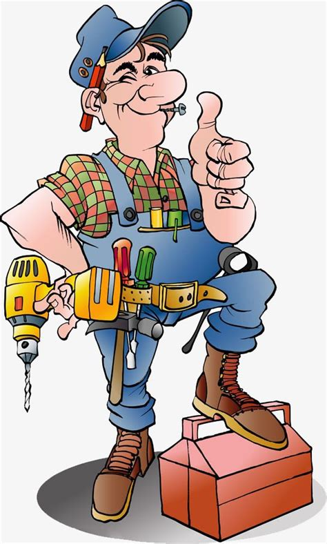 cartoon repairman cartoon clipart  thumb cartoon