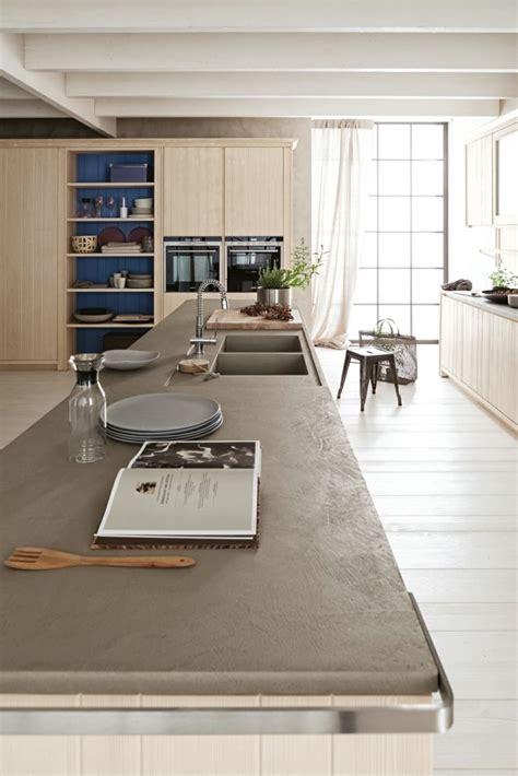 cuisine beton cire bois béton ciré 50 idées d 39 aménagement intérieur