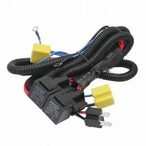 H4 9003 Wire Harness Relay Halogen Headlights Lamp Booster