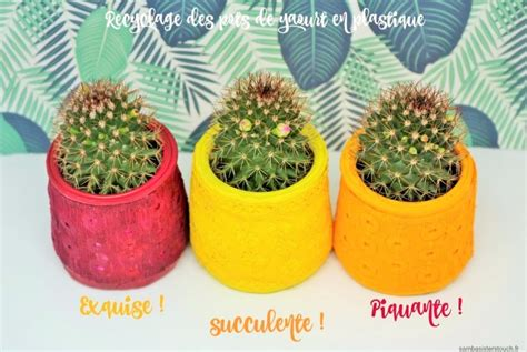 recyclage pot de yaourt plastique diy samba touch diy lifestyle et cr 233 atif