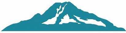 Rainier Mount Clipart Mountain Outline Showcase Artists