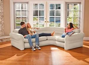 Canapé D Angle Assise Profonde : canap sofa d 39 angle beige gonflable intex jardideco ~ Melissatoandfro.com Idées de Décoration