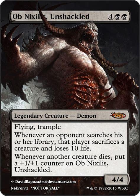 magic gathering demons mtg shadowborn apostle nixilis ob unshackled game cards card edh artwork commander savagery rendering thread official digital