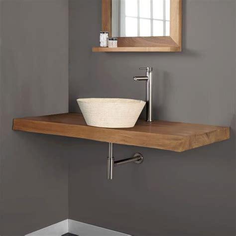 fixer un plan de travail cuisine plan de travail de salle de bain en teck massif achat
