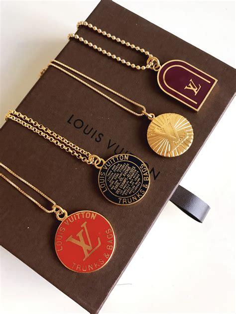 large vintage red  gold louis vuitton charm necklace  soul vintage jewelry