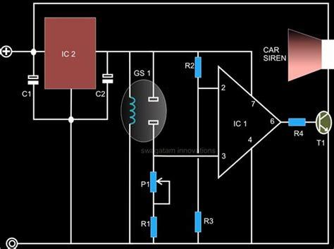 detector smoke sensor circuit gas fire detection datasheet tip122 electroschematics