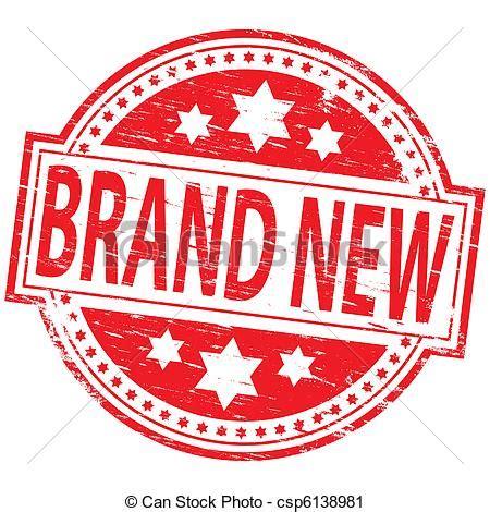 "Brand New Stamp Rubber Stamp Illustration Showing \""brand"