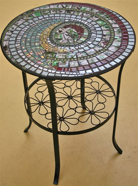bistro table by fran kremen 2009 seattle mosaic arts