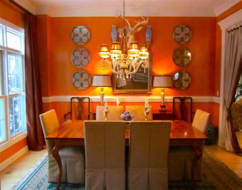 orange color   dining room