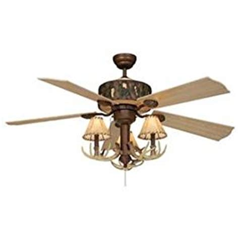 52 quot vaxcel log cabin ceiling fan with antler 3 light kit