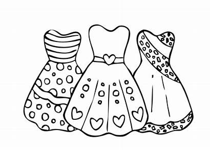 Colorir Vestidos Imprimir Imagens