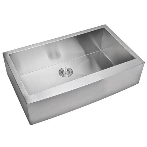 single bowl apron front sink water creation farmhouse apron front zero radius stainless