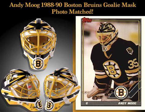 andy moog boston bruins game worn mask photo