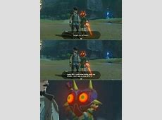 Botw reference to Majora's Mask Meme by Kyle_the_hotdog