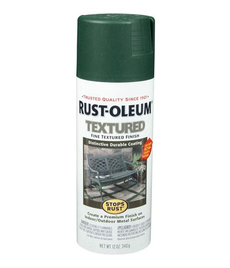 buy rust oleum stops rust textured spray paint color forest green at low price in india